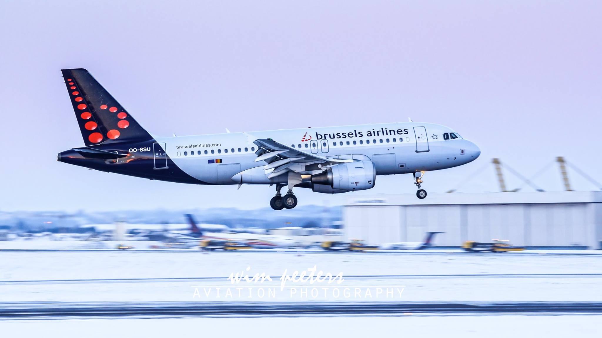 Brussels Airlines Airbus 319 - OO-SSU landing at Brussels AIrport runway 01 copyright Wim Peeters