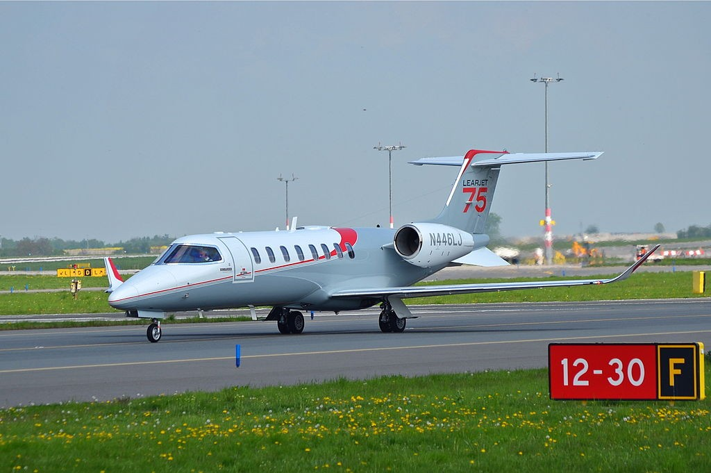Learjet 75 (N446LJ) at Václav Havel Airport Prague, Czech Republic.