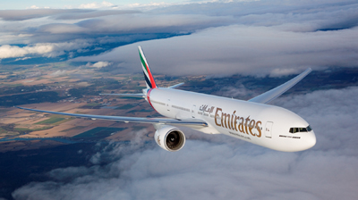 Emirates B777-300ER for Chicago