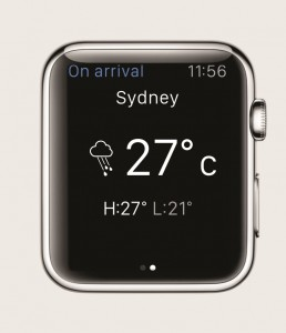 British Airways' app for Apple Watch - weather info compr