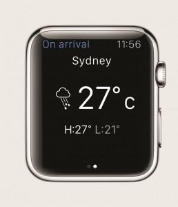 British Airways' app for Apple Watch - weather info compr