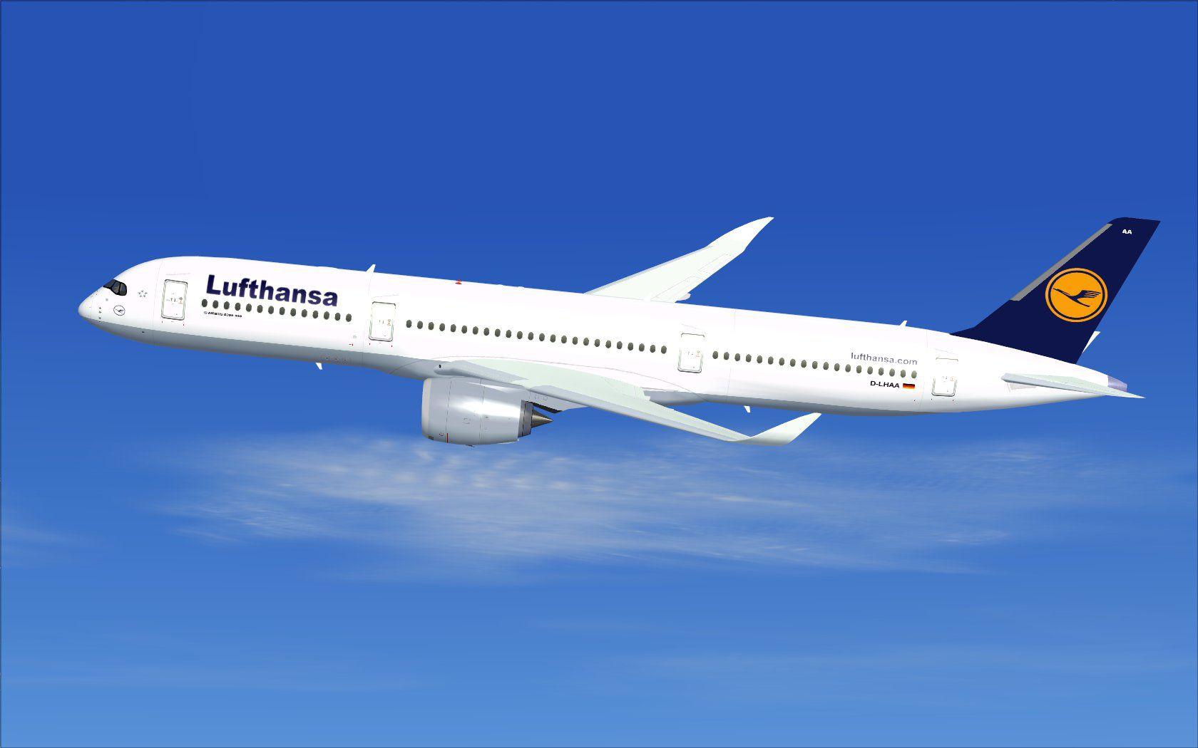 Lufthansa Airbus A350-900 XWB (simulation)