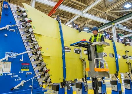 737 MAX Production Work at Renton