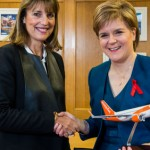 Photographer Ian Georgeson, 07921 567360 Easyjet chief executive Carolyn McCall and First Minister Nicola Sturgeon