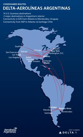 aerolineas argentinas route map Delta Aerolineas Argentinas Partnership Launches Aviation24 Be aerolineas argentinas route map