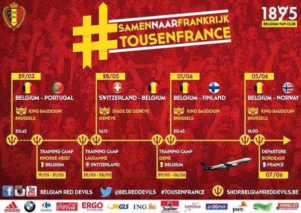 Belgian Red Devils - TousenFrance - SamennaarFrankrijk
