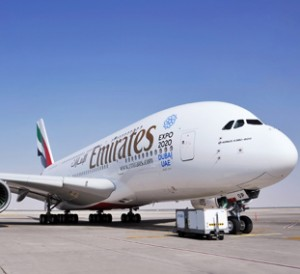 Emirates Airline Airbus A380 (A6-EOP) seriously damaged during a maintenance mishap