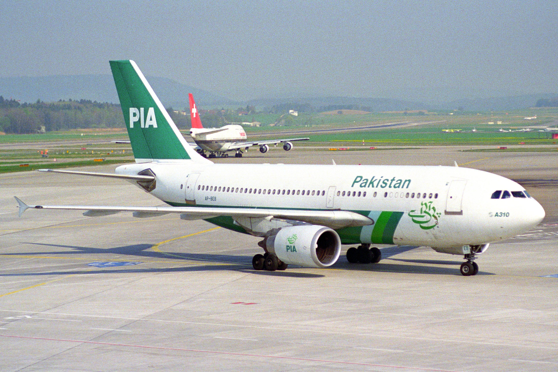 PIA_Pakistan_International_Airlines_Airbus_A310-304_AP-BEB@ZRH_11.04.1997