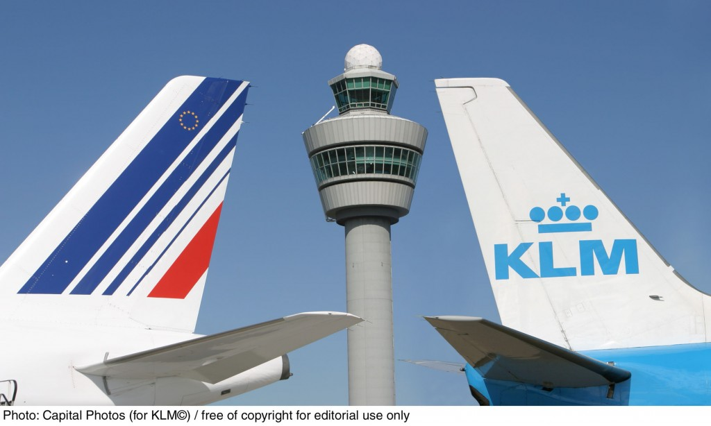 KLM AND AIR FRANCE aircraft at Amsterdam Airport Schiphol. © Capital Photos (for KLM) - Free of copyright for editorial use only / No syndication allowed (photo has been edited)