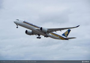 Singapore Airlines Airbus A350 first flight
