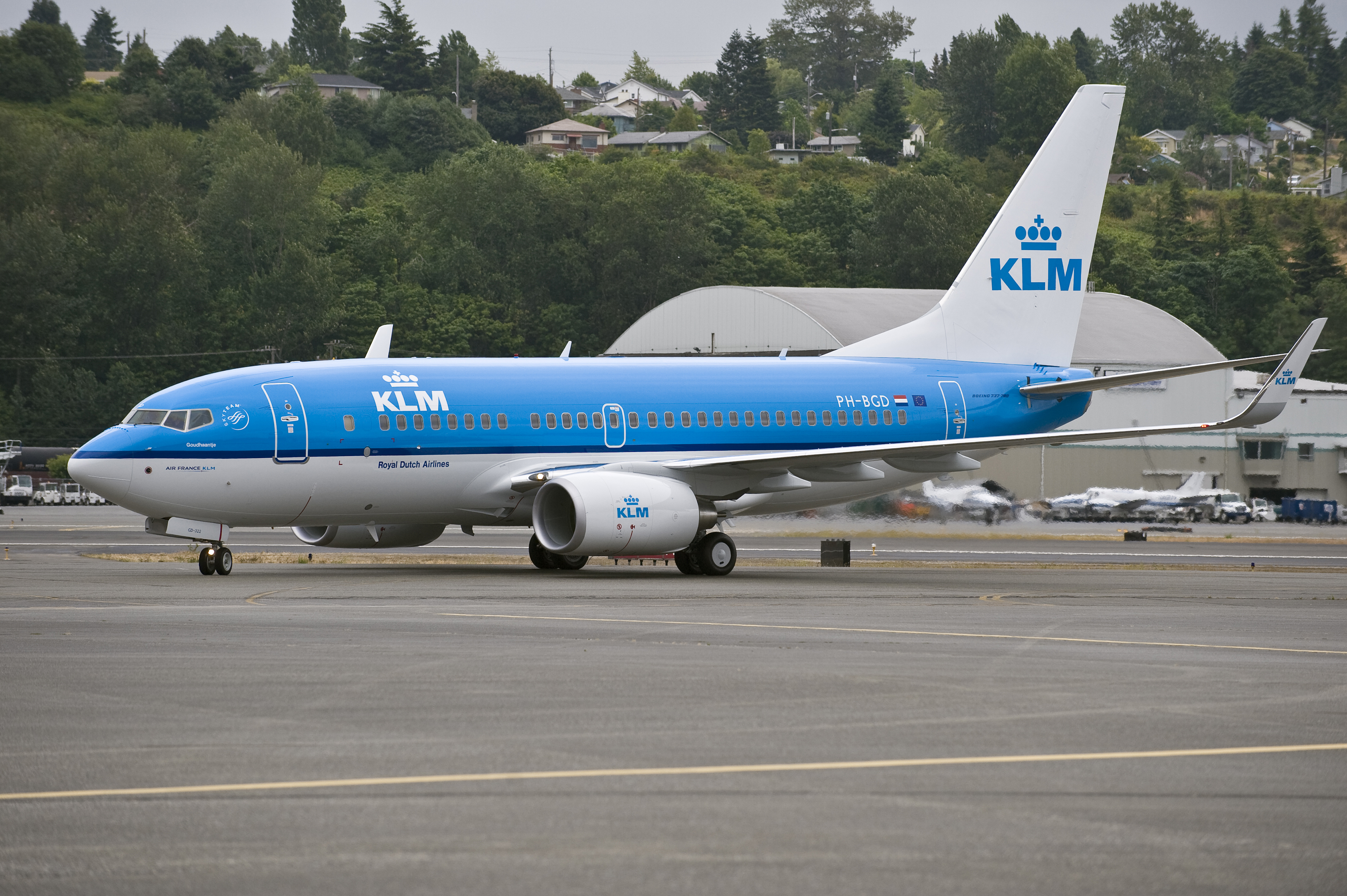 KLM Boeing 737-700, now flying daily to Valencia
