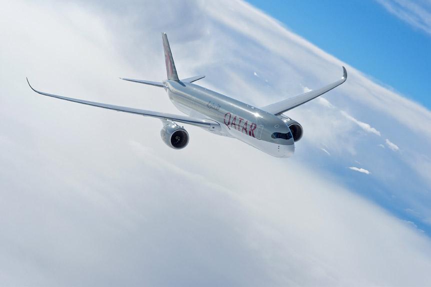 New York, Qatar Airways A350