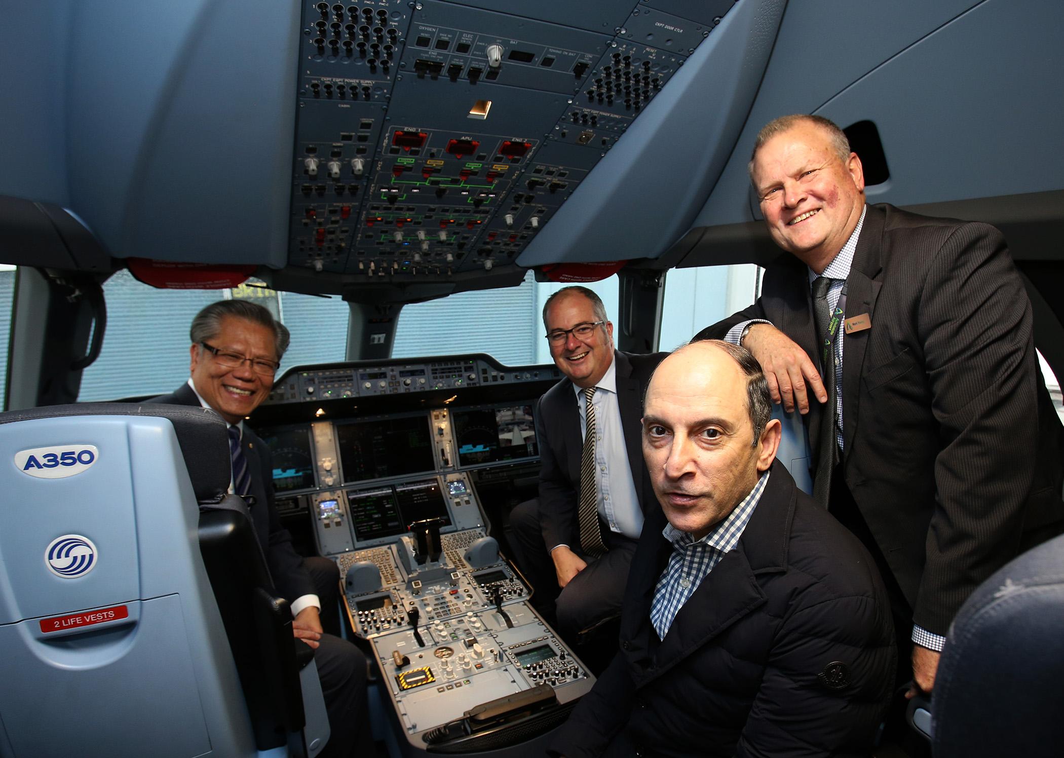 Qatar Airways A350 in Adelaide