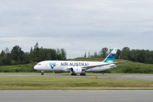 Air Austral delivery of first Boeing 787