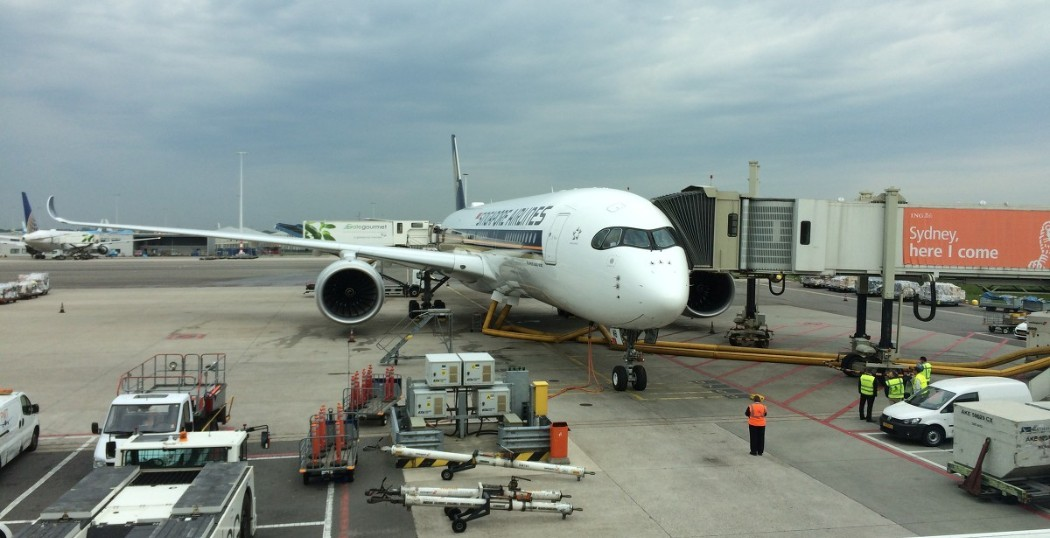 Singapore Airlines Airbus A350 XWB at Amsterdam Schiphol (photo NH)