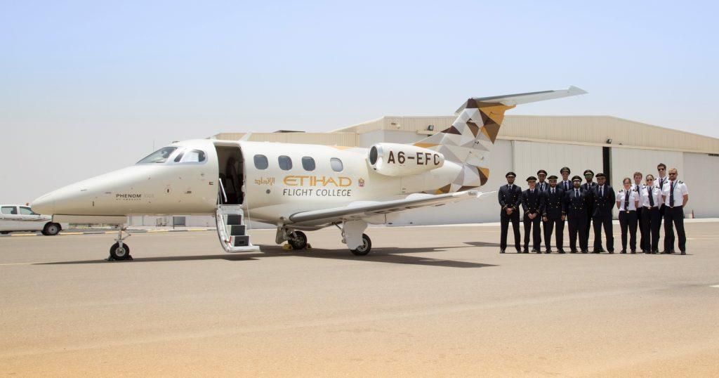 Etihad Flight College Embraer Phenom