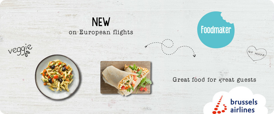 Brussels Airlines teams up with Belgian company Foodmaker