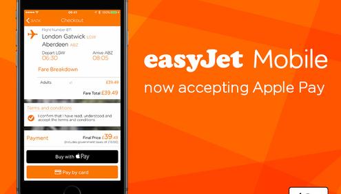 easyJet-Apple Pay