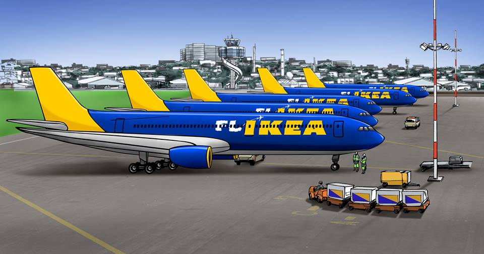Yesterday IKEA launched FLIKEA Airlines; ... and other fake stories (April  Fools' day) - Aviation24.be