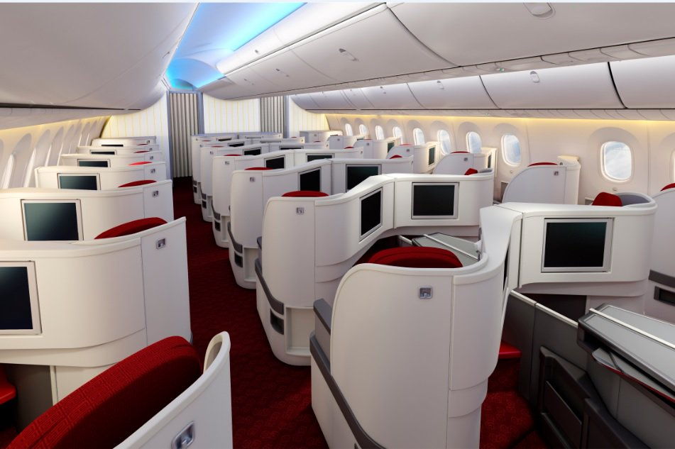 new interior design on board hainan airlines boeing 7879