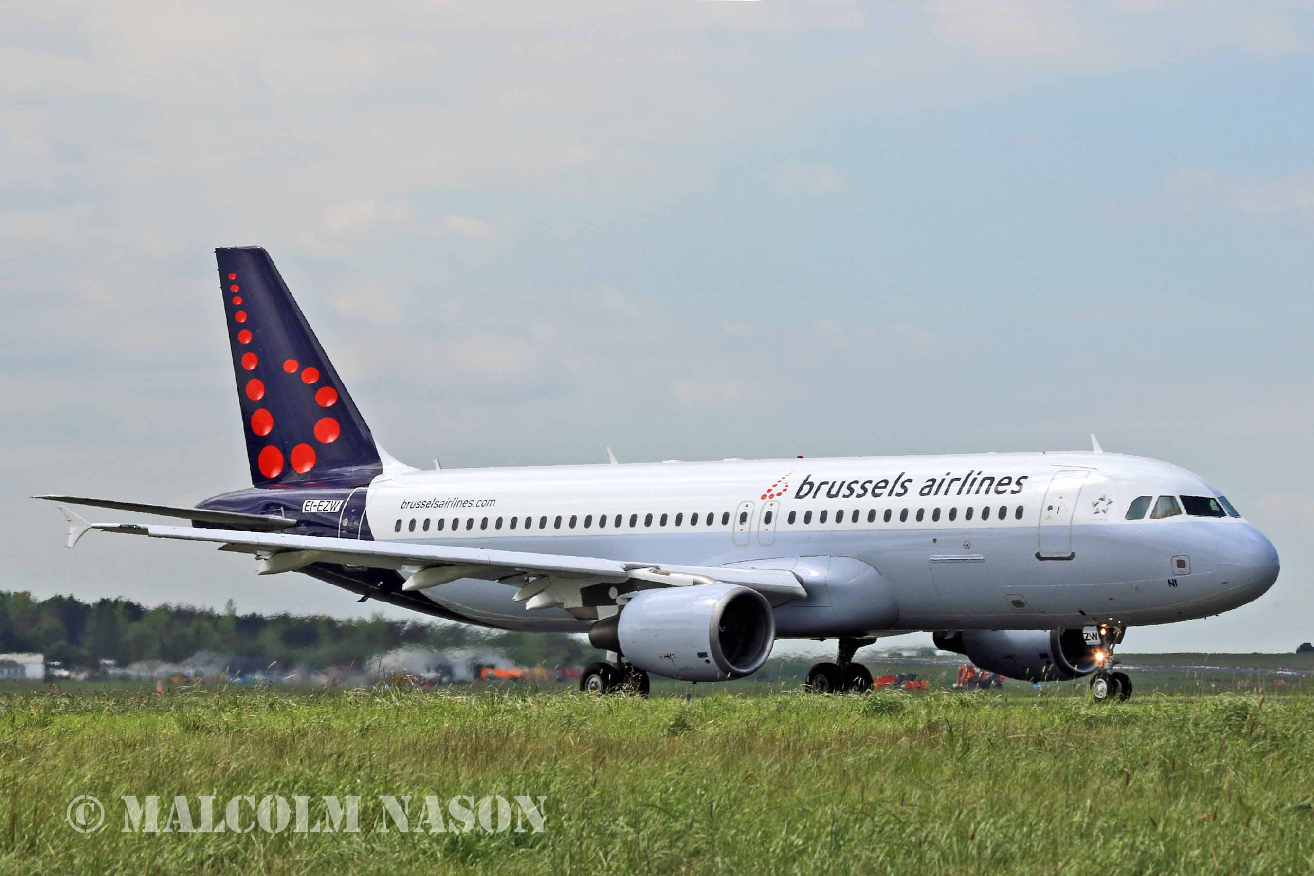 Brussels Airlines' latest A320 arrived at Brussels Airport