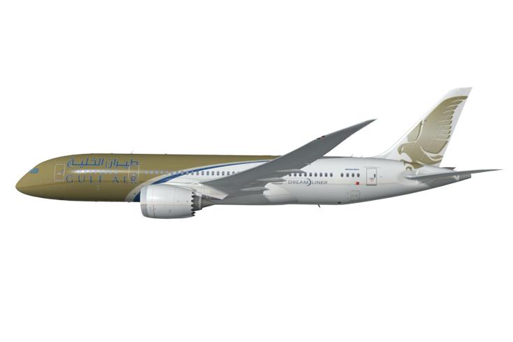 Gulf Air Boeing 787 render