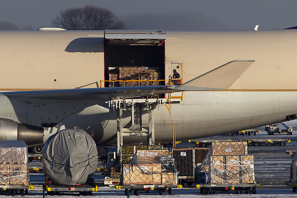 Cargo loading at Brussels Airport