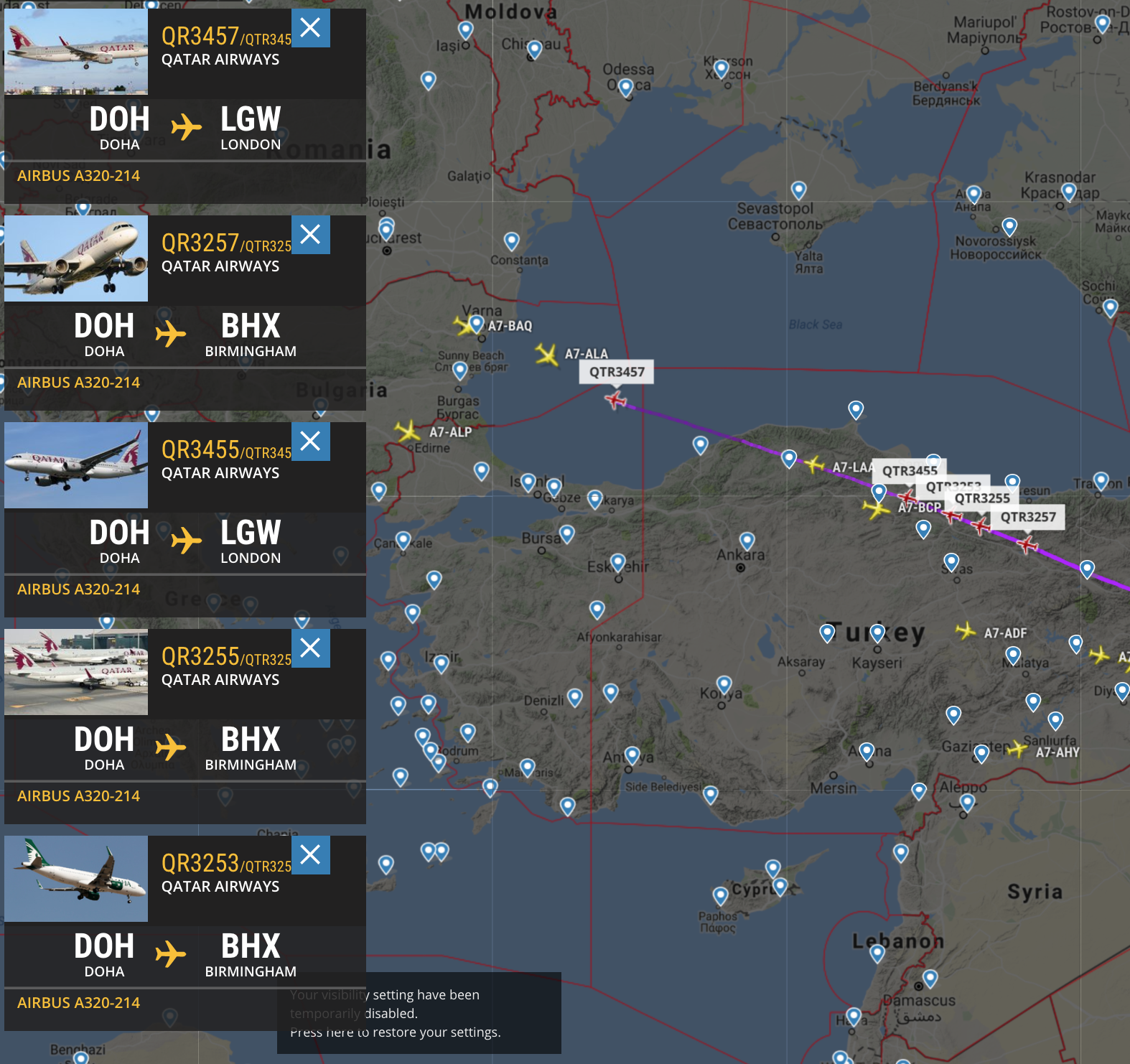 Qatar Airways A320\'s scrambled for Monarch Airlines collapse ...