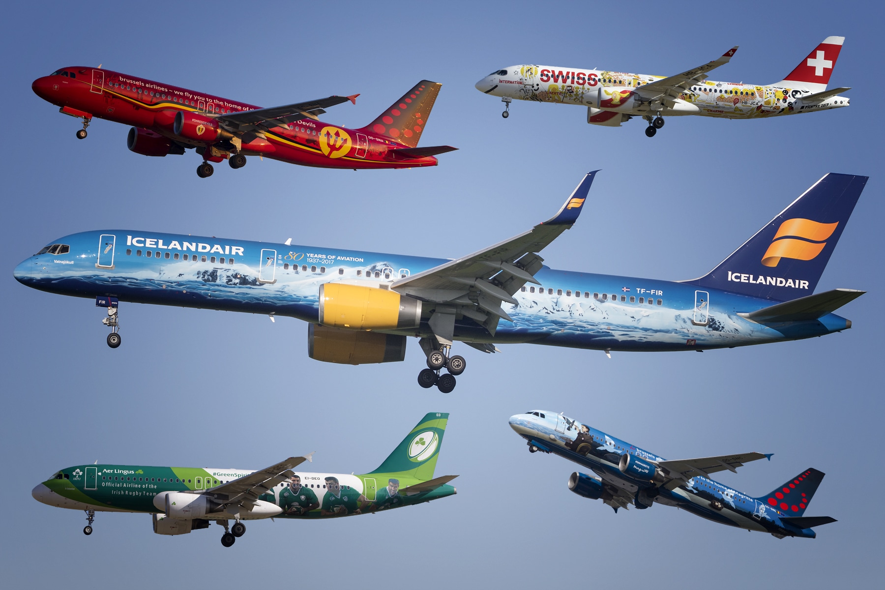13 great aircraft liveries you can spot at Brussels Airport