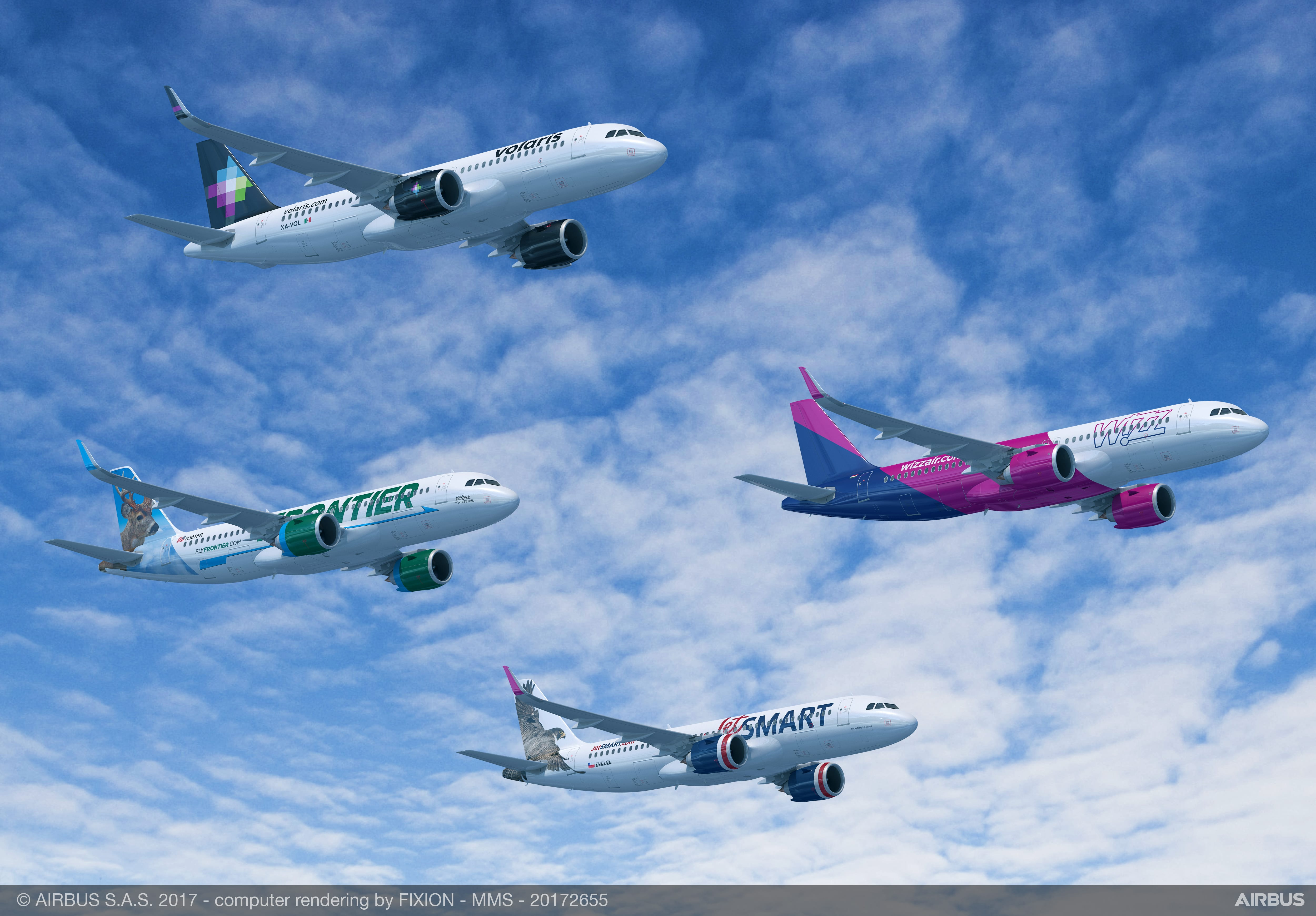 Frontier Airlines Jetsmart Volaris And Wizz Air Indigo Partners Have Signed Biggest Single Airbus Deal Ever With 430 Airbus A320neo Aviation24 Be