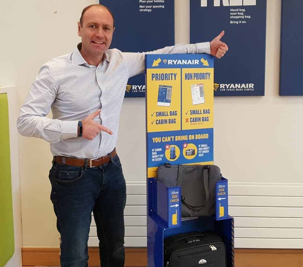 Ryanair non-priority customers must put 2nd (bigger) bag ...