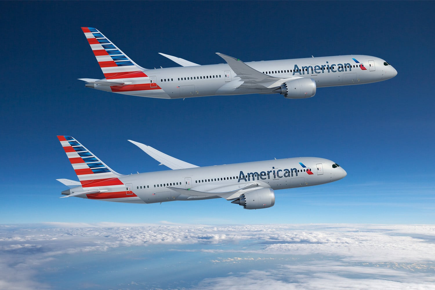 American Airlines, Delta Air Lines and United Airlines to