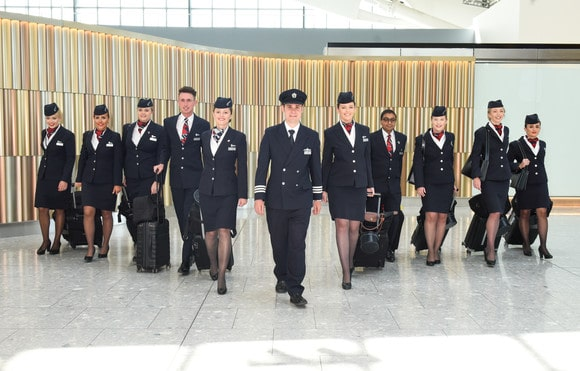 Here is British Airways' crew of 8 Meg(h)an's and two