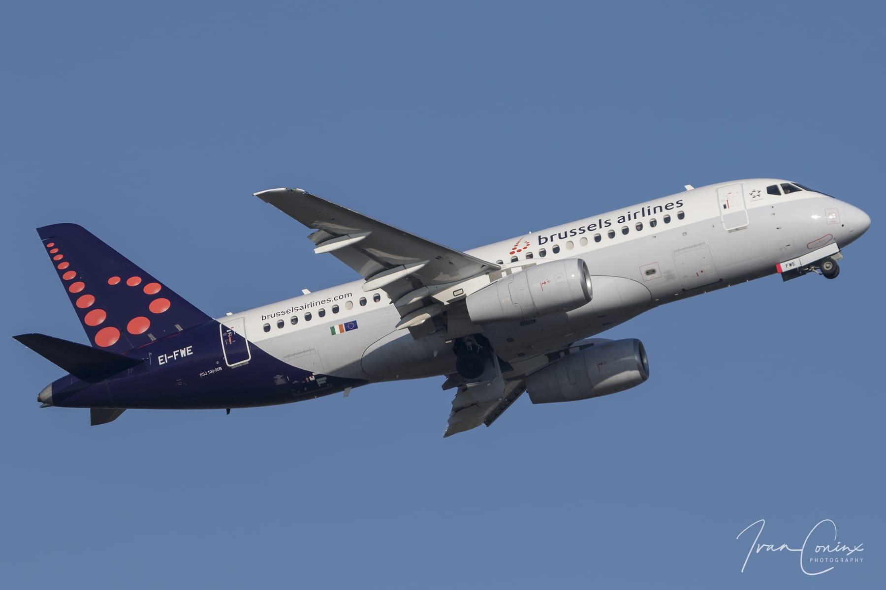 Final Sukhoi Superjet 100 flight for Brussels Airlines