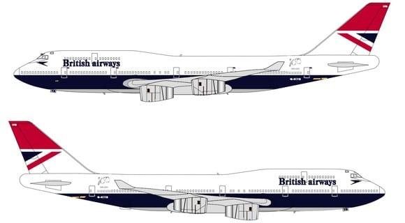 Negus design on a Boeing 747 will plete British Airways