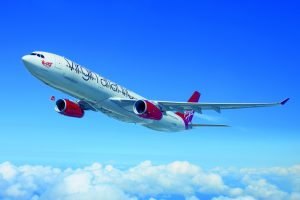 Virgin Atlantic's first Airbus A350 has rolled out of the